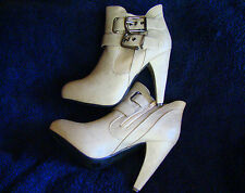 "SEXY JUST FABULOUS  STONE  ANKLE HIGH  PLATFORM BOOTS  4.75"" HEEL 7.5  NIB"