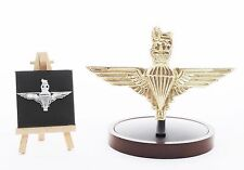 The Parachute Regiment:  LARGE Solid Brass Badge Gift Set