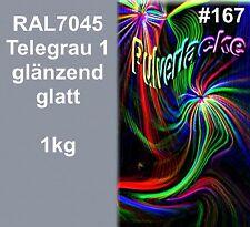 PULVERLACK 1kg Beschichtungspulver Pulverbeschichtung RAL7045 Grau Telegrau