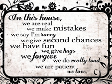In This House Metal Sign, Family, Love, Home, Rules
