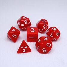 7pcs lot Red dice polyhedral role dungeon and dragons miniatures game wholesale