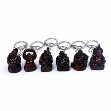 1 inch Set of 6Laughing Buddha Figurines Lucky Happy Buddha Statue-