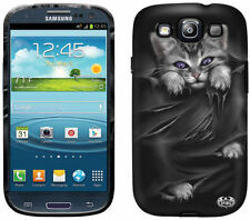 Spiral Direct BRIGHT EYES Samsung Galaxy S3/SIII/S 3 Phone Case/Cover goth/cat