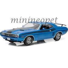 GREENLIGHT 12961 RUN WITH THE DODGE SCAT PACK 1971 DODGE CHALLENGER R/T 1/18 BL