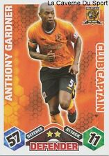 ANTHONY GARDNER # ENGLAND HULL CITY.FC CAPTAIN CARD PREMIER LEAGUE 2010 TOPPS