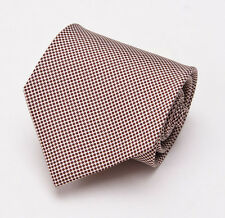 NWT $225 BORRELLI NAPOLI Ivory-Brown Small Printed Dot Silk Tie Handmade
