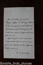 ✒ P.A. Marquis de BOUTHILLIER CHAUVIGNY militaire député 1826