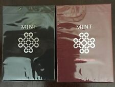 Black Mint n Raspberry Ultra Rare Limited Custom Playing Cards Pro Magic Decks $