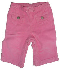 Size 0-6 Months - Baby Girls GAP Pink Corduroy Winter Pants