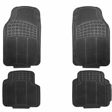 Zone Tech 4-Piece Heavy Duty Black Universal Car Floor Mats Rubber Material