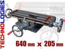 TABLE à mouvements croisé 640 x 205 mm pour fraiseuse ou perceuse NEUF!