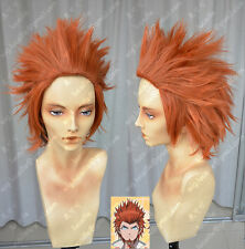 Danganronpa Kuwata Leon Orange Spiky Styled Cosplay Party Wig Free Shipping