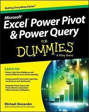 Excel Power Pivot and Power Query For Dummies Alexander, Michael Books-Good Cond