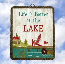 Lake1 Lake House boat Gifts Wall Decor Art Prints Plaques lalarry ventage framed