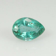 0.71 Ct - Natural Emerald - Zambia - Pear cut - Unheated - Luster green