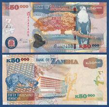 Zambie/zambia 50.000 Kwacha 2012 unc p. 48 H