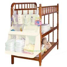 SE#N Waterproof Baby Crib Nursery Toys Diapers Organizer Storage Bag Bed Hangin