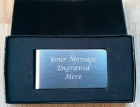 Personalised Engraved Stainless Steel Money Clip  Birthday Gift Wedding Gifts