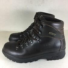 WOMENS LL BEAN CRESTA HIKING BOOTS GORE-TEX Brown Leather Italy Sz 7.5