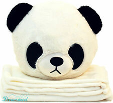 Kid's Panda Throw Pillow Cushion with Detachable Blanket Insert, Dreamsweet B7PA