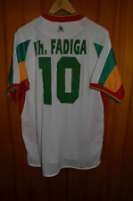 SENEGAL 2002 WORLD CUP AWAY FOOTBALL SHIRT JERSEY LE COQ SPORTIF #10 FADIGA