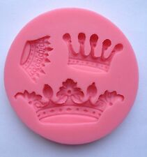 Crown King Queen Soft Silicone Mold Fondant Mat Cake Decorating Cupcake Design