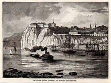 1889  --  CANADA  LA VILLE DE QUEBEC VUE PRISE DU SAINT LAURENT    3L372