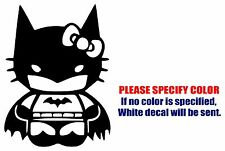 Hello Kitty Batman Funny Vinyl Decal Car Sticker Window bumper Laptop tablet 7""