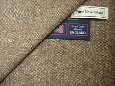 100% PURE NEW WOOL DONEGAL TWEED FABRIC – MADE IN HUDDERSFIELD ENGLAND - 2.33 m.