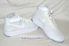 Women's Nike Air Force 1 Flyknit - SIZE 6 - 818081-100 One Triple AF1 High Mid