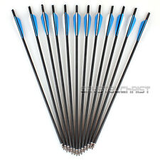 "12 Pcs Carbon Arrows 20"" Crossbow Bolts for Crossbow Hunting Archery Hunter"
