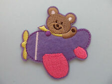 TEDDY Bear in aria piano ferro su applique pezza