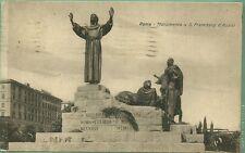 ITALIA REGNO CARTOLINA  VIAGGIATA 1943 ROMA  MONUMENTO A SAN FRANCESCO D'ASSISI
