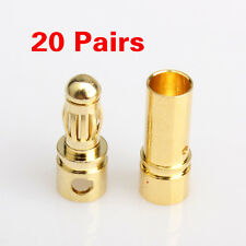 40Pcs 3.5mm Gold-plated Bullet Banana Plug Connector RC Battery