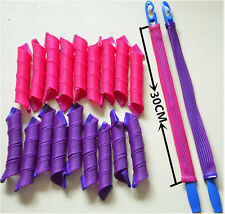 18Pcs Magic Hair Curlers Tool Curl Shaping Spiral Ringlet Leverag rollers 30CM