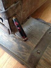 Parker Duofold Deluxe Ringtop Marbled Maroon & Black Marbled Cap