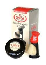 Omega Shaving Set with Brush, Holder & Soap in Bowl No. 46065 - New & Boxed