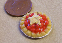 1;12 Scale Cherry Tart Dolls House Miniature Kitchen Cake Dessert Accessory D17