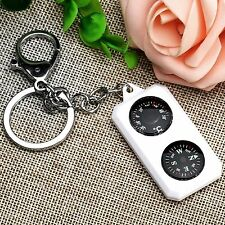 3 IN 1 Compass + Thermometer + Keychain Keyring for Camping Hiking Survival Tool