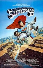 Superman movie poster (D)  : 11 x 17 inches - Christopher Reeve, Superman III