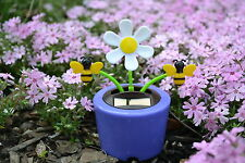 New Solar Power Flip Flap Dancing Toy Flower Cute Purple Daisies Flower