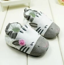 Toddler baby cute girls gray crib shoes soft bottom shoes size 3-6months