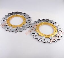 Gold Front Brake Disc Rotor for YAMAHA YZF R1 1998-2003  XJR 1300 99-11
