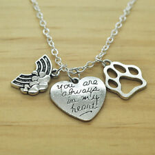 Rainbow Bridge Pet Memorial Charm Necklace You are Always in My Heart