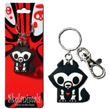 Skelanimals Glow in the Dark Series 2 Jae Wolf Vinyl Keychain - Toynami