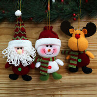 Classic Christmas Toy Doll Hang Decor Ornament Xmas Santa Claus Snowman Reindeer