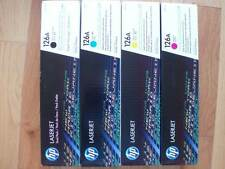 GENUINE SET 4 COLOR TONER HP CE310A CE311A CE312A CE313A LaserJet CP1025 126A NE