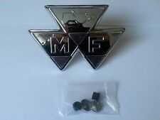 Massey Ferguson Bonnet Chrome Badge MF35 Metal