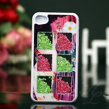 Apple iPhone 4 4S Hard Case Handy Schutz Hülle Etui Cover Design Strass Steine