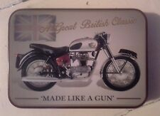 Royal Enfield Crusader Keepsake Tin Garage, Workshop, Tobacco, Mints, Trinkets